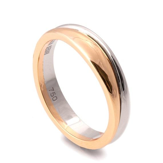 Two Tone Wedding Band Unique wedding band Wedding Ring