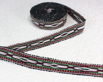 Woven Trim (6 yards), Woven Border, Cotton Ribbon, Grosgrain Ribbon, Dress Border, Border Trim, Ikat Fabric, T54 (R312)