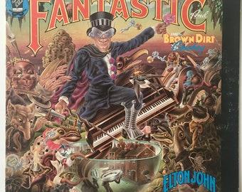 Elton John - Captain Fantastic And The Brown Dirt Cowboy LP Vinyl Record Album, MCA Records - MCA-2142, Pop Rock, 1975, Original Pressing