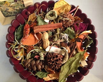 Natural Potpourri - Decorative Bowl - Home Aromatherapy Scent- Winter - Spring - Essential Oil Scents - EcoHome - Home Gifts