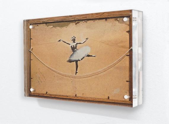 Banksy bailarina parte posterior del marco bloque de