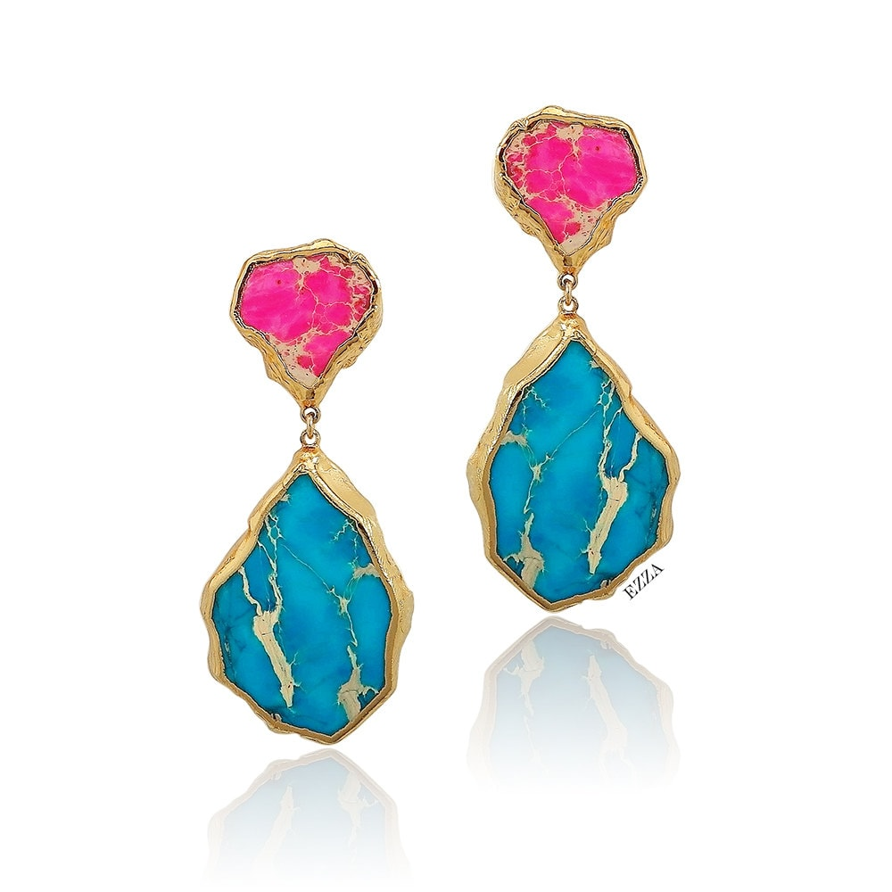carved earring kjl products earrings com turquoise kennethjaylane