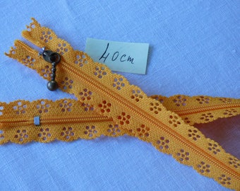 Zipper lace 40 cm orange