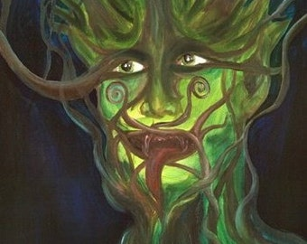Greenman Limited Edition faery 8 x 10 giclee Katie Lennon