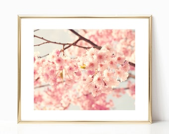 Cherry blossom art, framed wall art, canvas wall art, large wall art, cherry blossom, flower photography, floral wall art, gallery