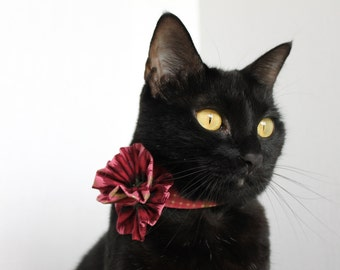 Unique Cat Accessory with Flower