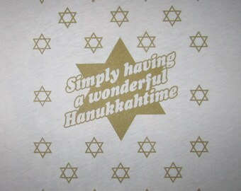mens simply having a wonderful hanukkah time t shirt holiday mazel tov star of david jewish judaism new top graphic ugly sweater party tee