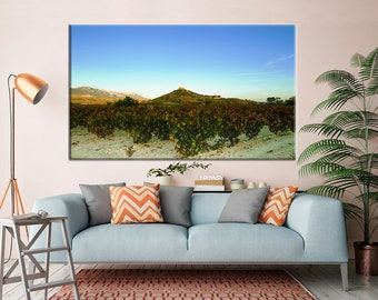 """Photographic Print, Photography, Landscape, Wall Art, """"Autumn Afternoon looking at the Castle of Davalillo"""", vineyard by ARTNATURESENSES"""