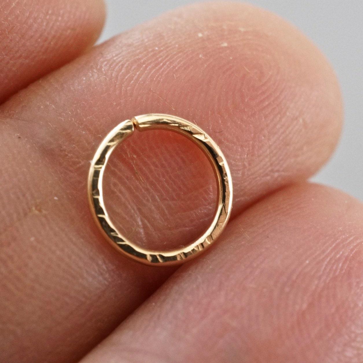 Cartilage hoop - SEPTUM RING - piercing hoop - endless hoop ...