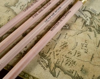 Game Of Thrones Set Of 4 House Motto Pencils