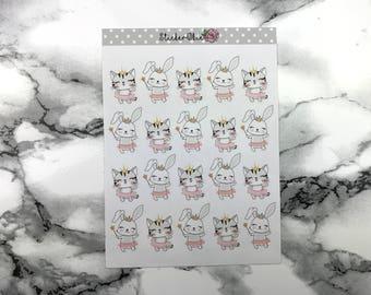 Kitty and Bunny Ballerina Planner Sticker C005