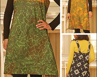 Origami Apron PDF sewing epattern - Asian inspired wrap apron, easy to make, fits up to 3XL