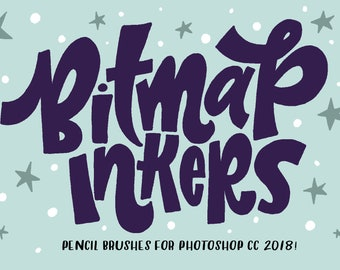 INSTANT DOWNLOAD Bitmap Inkers for PHOTOSHOP CC2018