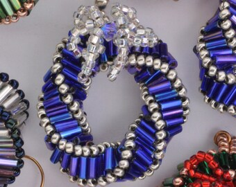 Beaded Mini Wreath Earrings Tutorial