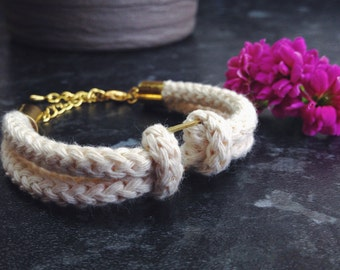 Nautical Square Knot Rope Bracelet/ Nautical / Minimalist Bracelet/ Rope Bracelet