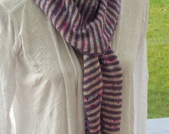 "Shawlette - Scarf Lutine ""-painted wool and alpaca"""