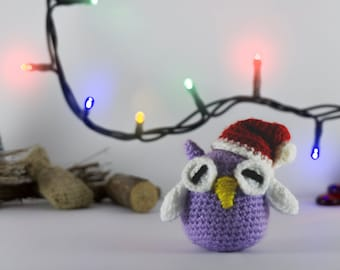 Amigurumi Owl crochet  - Christmas edition