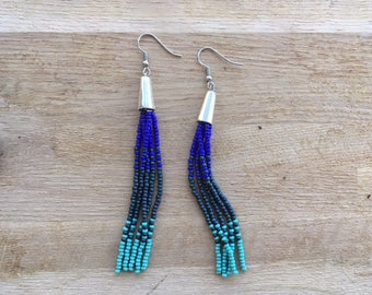 Monsoons and Cacti Beaded Tassel Earrings