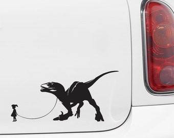 """CAR - Pet Dinosaur - A Girl and Her Velociraptor - Car 