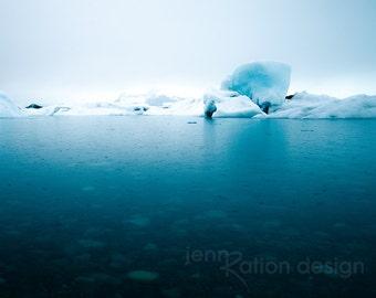 Iceberg Photo, Iceland Photography, Jökulsárlón Glacier Lagoon, Water Photo, Glacier Photo, Nature Photography, Blue, Iceland Fine Art Print
