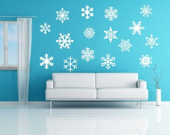 Snowflakes Decals | Vinyl Wall Decals | Snowflakes | Winter Decor | Christmas Decor | Kids Room Decor | Nursery Decals | 22234
