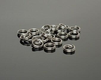 6mm Stainless Steel Split Rings (20)