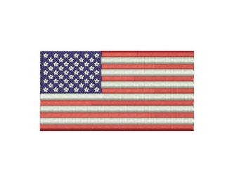 Machine Embroidery Design Instant Download - US American Flag 1