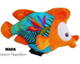 stuffed plush Napoleon fish, sea