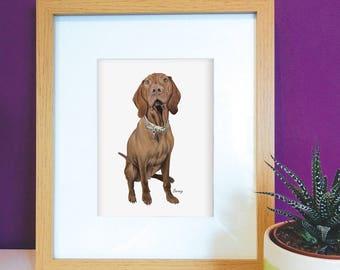 Custom Pet Portrait A4 print