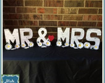 LAST CHANCE! Mrs & Mrs Letters Wedding Sign