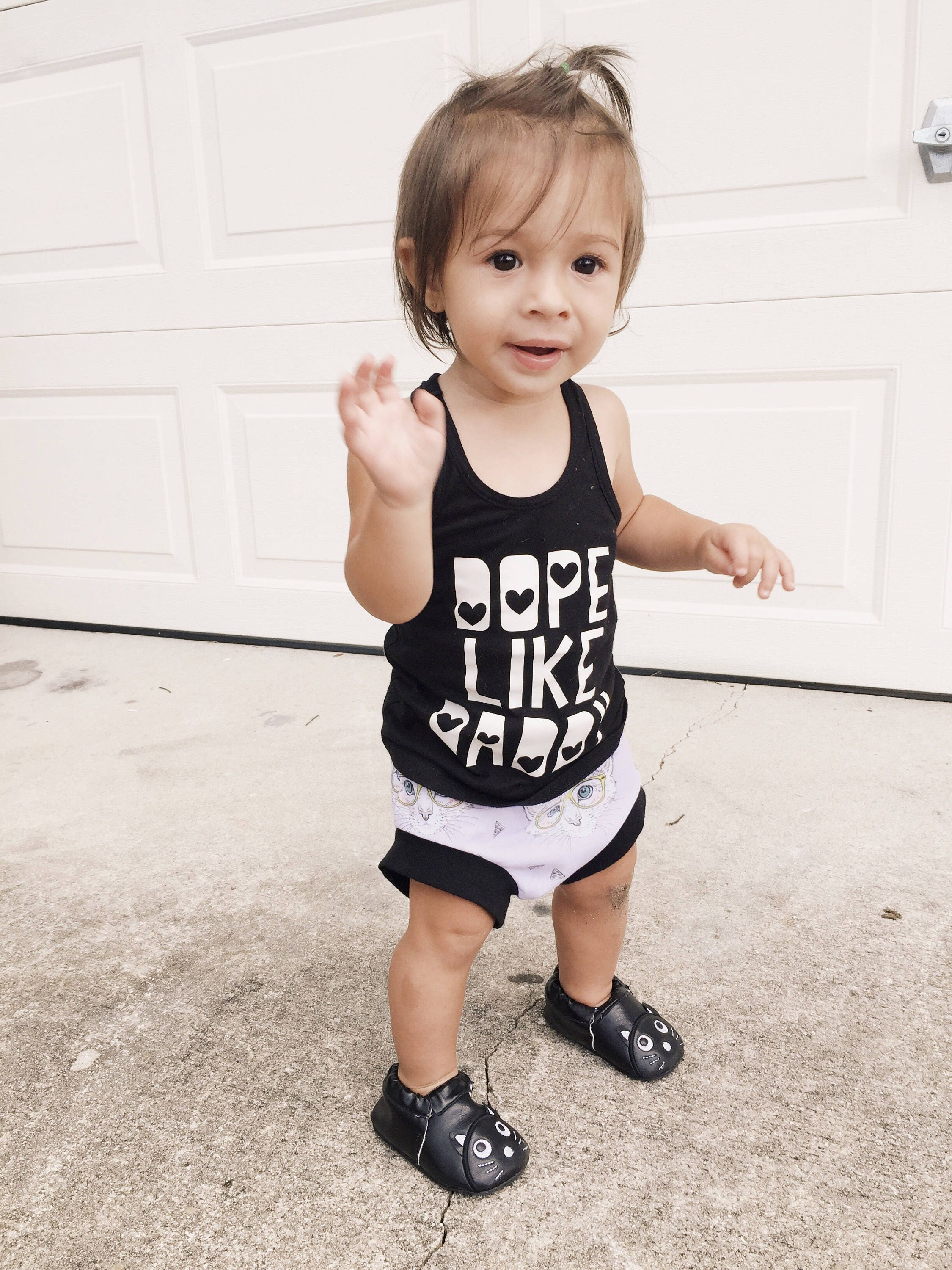 Dope like daddy baby racerback toddler racerback graphic tee
