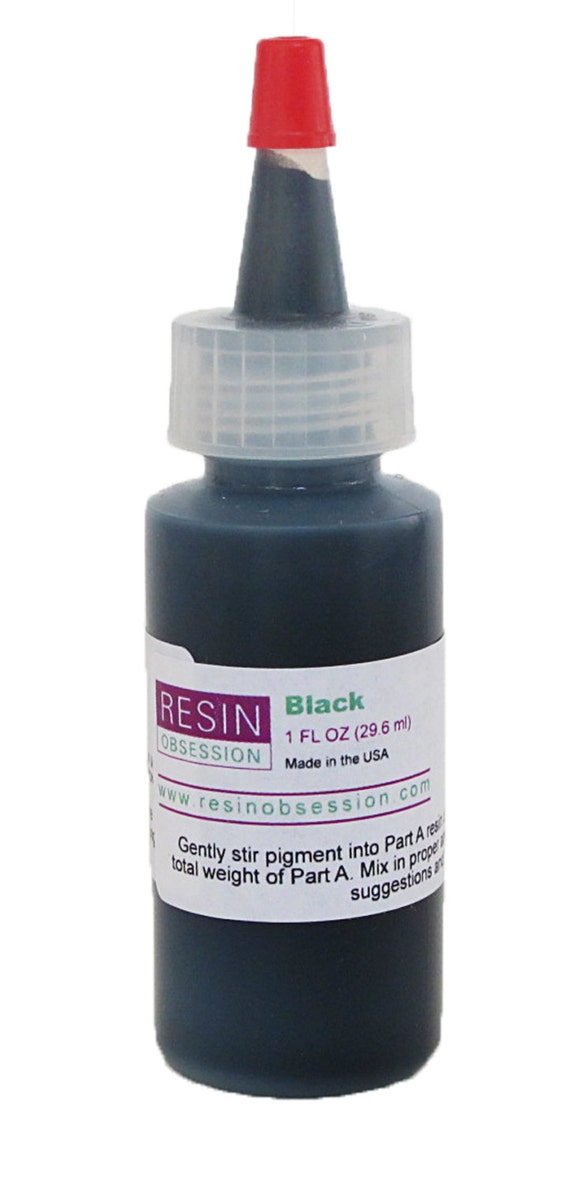 Resin Obsession opaque black color pigment for coloring epoxy resin ...
