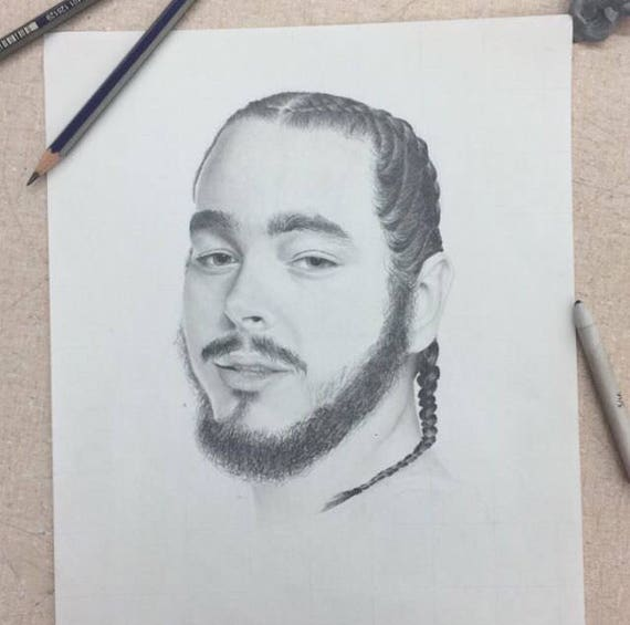 Post Malone Drawing: Post Malone Portrait