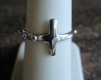 ROSARY RING Sizes  6. 6.5, 7.0, 7.5, 8, 8.5, 9.0, 9.5  Cross Ring, Cross Jewelry, crosses, statement ring, free shipping in USA