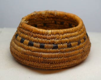 Mission Indian Basket - Antique Indian Basket - Native American Basket - California Native American Basket