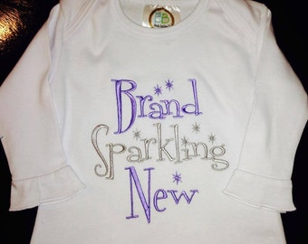 Brand Sparkling New Ruffle Butt Layette Gown