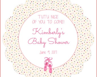 Baby Shower Tags Baby Girl, Personalized