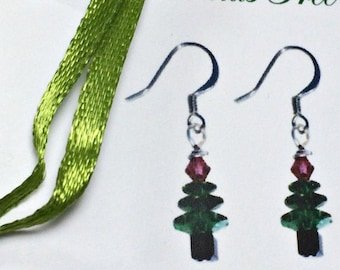 Christmas Tree kit, Earring kit, DIY kit, stocking stuffer, Christmas gift, Christmas earrings, jewely craft kit