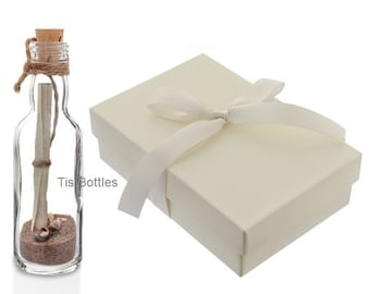 Personalised Wedding Invitation | Message in a Bottle with Box | Beach Wedding