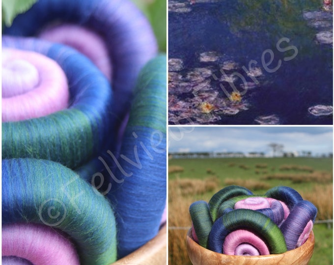 Monet's Lily Pond Gradient Rolags - 100g