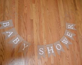 Baby Shower Burlap Banner