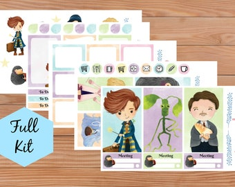 Magical Beasts Kit  - Full Kit - Deluxe Kit - Sheets - Erin Condren - Happy Planner - Planner - Stickers - Diary