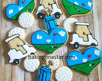12 Golf sugar cookies
