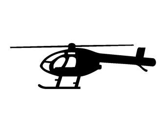 MD 520N Helicopter Vinyl Decal