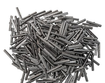 500 pieces  40mm  ( 1 9/16 inch ) Gunmetal Ribbon Clamp End Crimps - Artisan Series