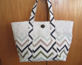 Fabric Bag in Chevron Print