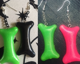Wanna Bone? Bone Earrings Pick Your Color Options