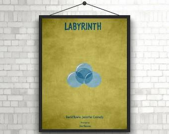 Labyrinth minimal artwork poster