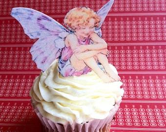 Edible Fairies - 1 dozen - Cake & Cupcake toppers - Food Decorations
