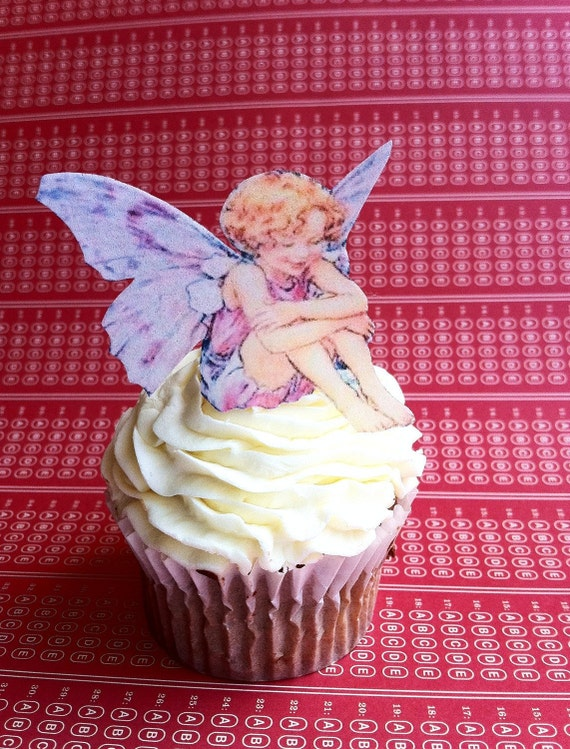 Edible Fairies - 1 dozen - Cake & Cupcake toppers - Food Decorations